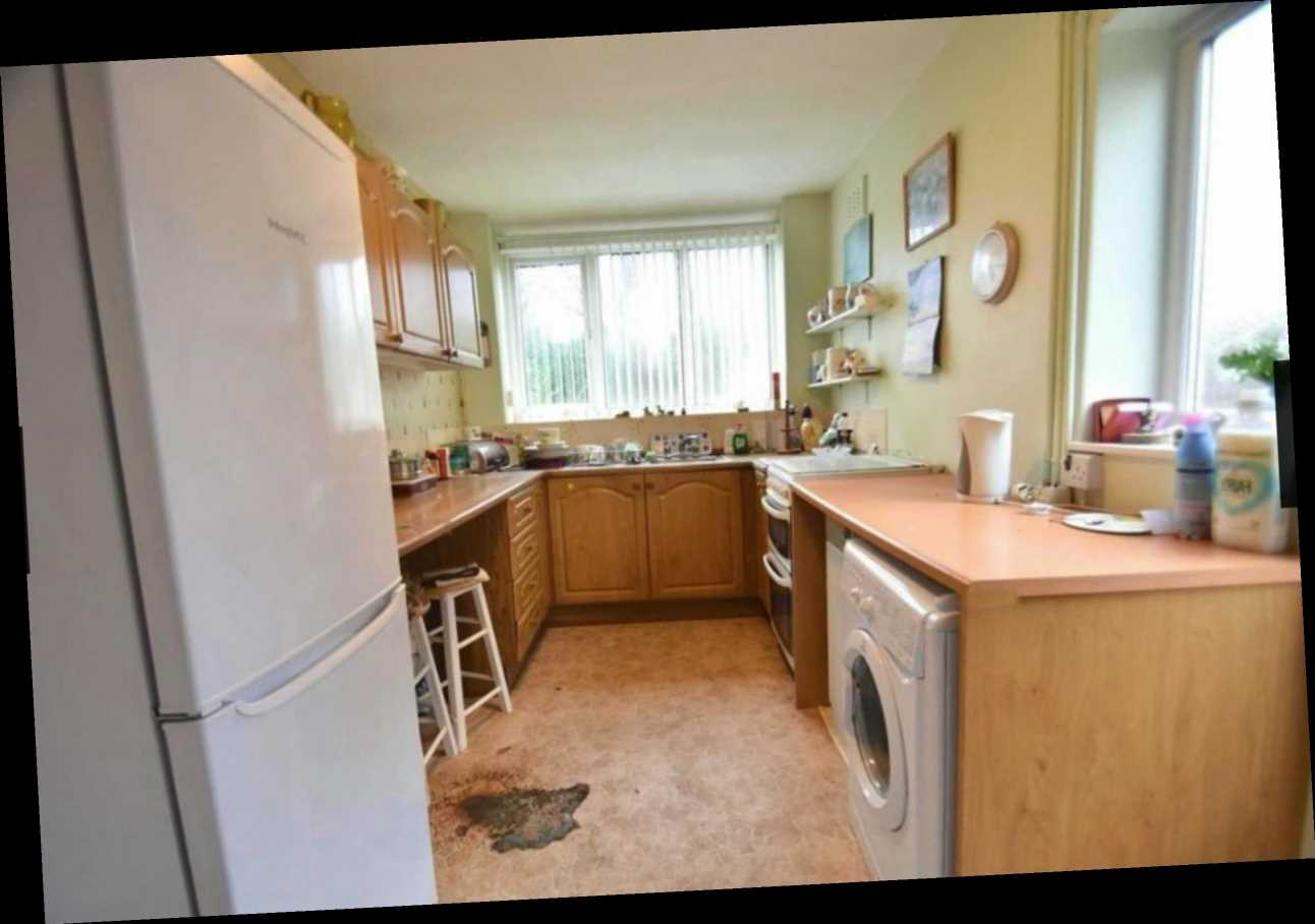 Horrified househunters spot huge 'bloodstain' on kitchen floor of three-bed home on sale for £325k – The Sun