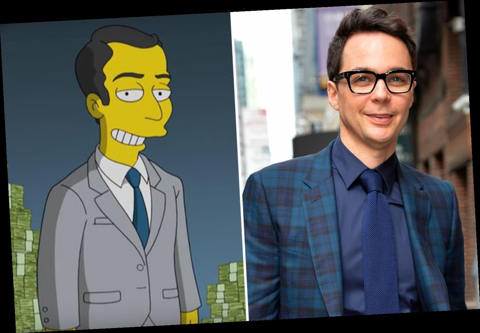 The Big Bang Theory's Jim Parsons makes long-awaited debut on The Simpsons as millionaire nerd