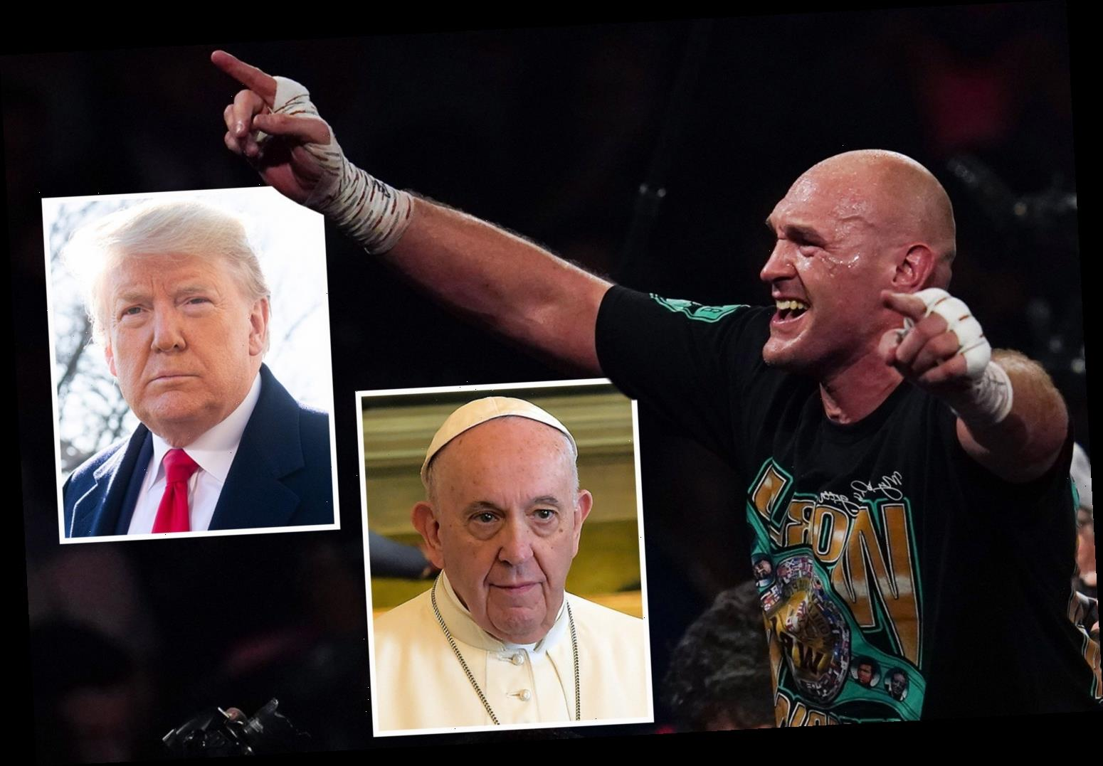 Tyson Fury invited by Donald Trump to White House and by Pope to the Vatican after historic win over Wilder – The Sun