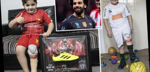 Mohamed Salah shows why he is nicest man in football by sending boots to Syrian child, 8, who lost leg in bomb attack – The Sun