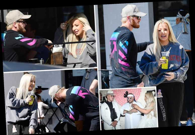 Logan Paul cosies up to Tana Mongeau on LA brunch date… amid her 'break from marriage' to his brother Jake – The Sun