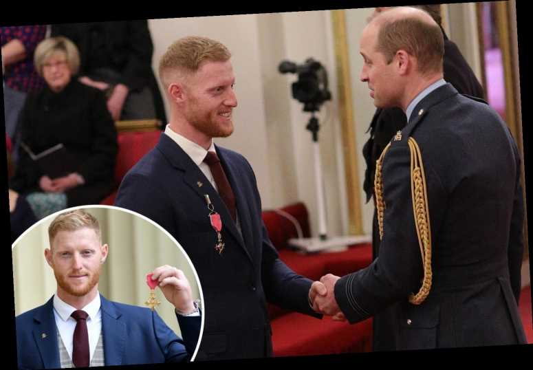 England star Ben Stokes receives OBE from Prince William at Buckingham Palace for World Cup and Ashes heroics – The Sun