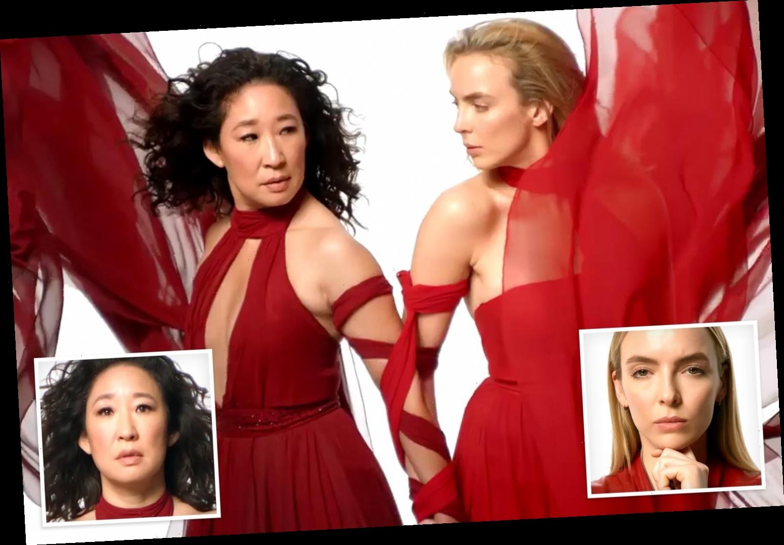 Killing Eve's Jodie Comer and Sandra Oh stun in red gowns in sexy new teaser as series three release date is confirmed