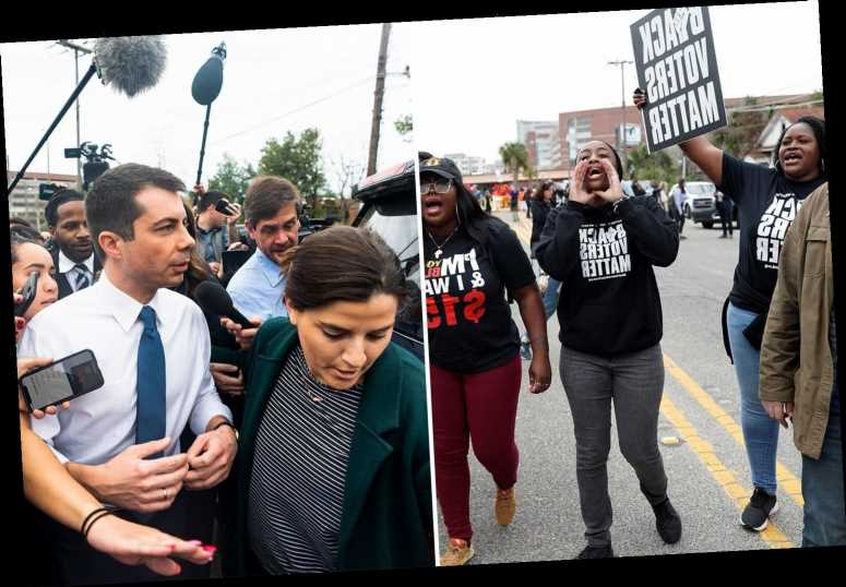 Pete Buttigieg is taunted by jeering protesters who chase the Democrat away during campaign stop gone wrong – The Sun