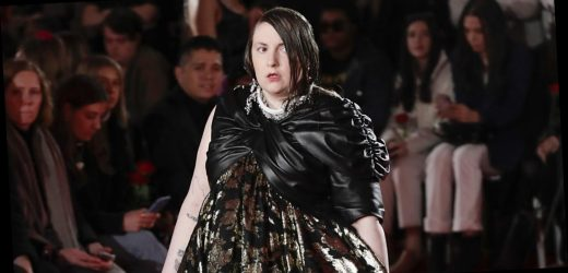 Lena Dunham's response to walking the runway at LFW is refreshingly honest