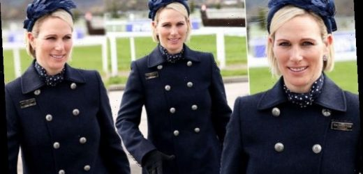 Cheltenham Festival 2020: Zara Tindall wears navy for day out with maid of honour