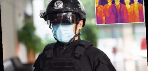 Chinese police wear smart helmets to detect pedestrians with fevers
