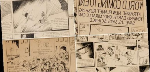 Original artwork from first ever Flash Gordon comic is listed for sale