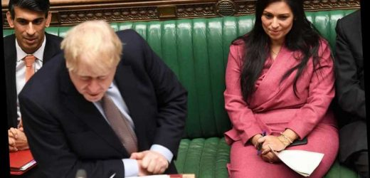 Fresh claim that Priti Patel 'threw a folder' at official during row as Boris Johnson vows to stick with her