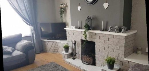 Woman gives her fireplace a stunning makeover using £14 Wilko paint