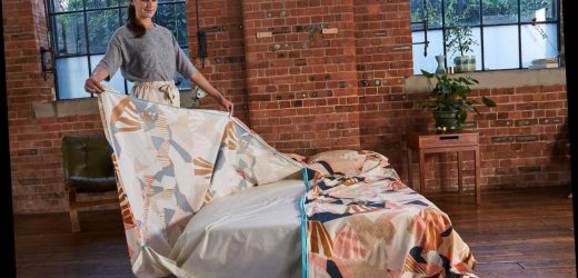 New duvet cover which opens from the middle will make changing bedding so much easier