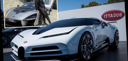 Cristiano Ronaldo 'splashes out £8.5m on a limited edition Bugatti Centodieci' – one of just ten models ever created – The Sun