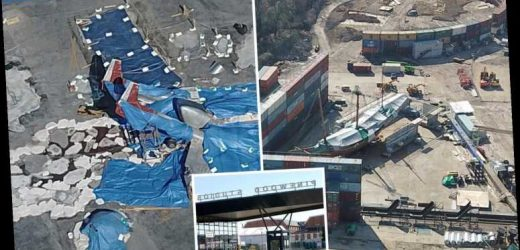 Haunting aerial pics show Little Mermaid and Jurassic World film sets frozen in time in Pinewood Studios lockdown – The Sun