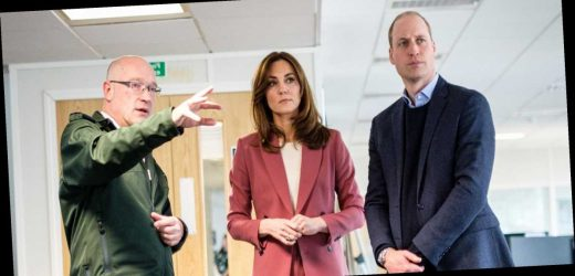 Kate Middleton Wears a Rose Pantsuit for a Visit to a London Emergency Call Center