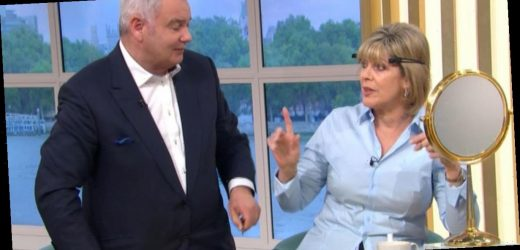 Ruth Langsford shouts at husband Eamonn Holmes while trying to cut her hair on live TV