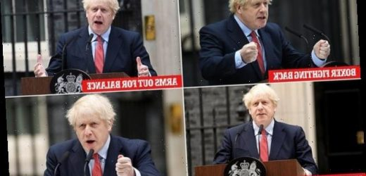 Boris Johnson 'presented a fighter's stance' as he addressed nation
