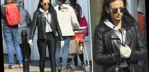 Michelle Keegan hits the supermarket in protective rubber gloves – and still looks incredibly glam – The Sun