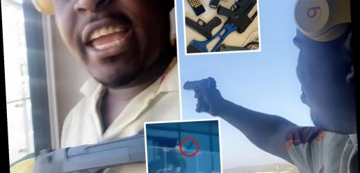 Chatham 'gunman' yells 'why are you scared?' as he taunts cops after firing shots in Tupac meltdown – The Sun