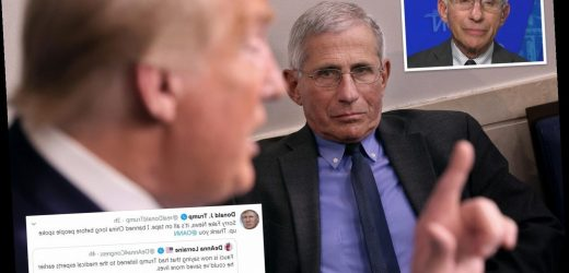 Trump 'asking key allies what they think of Dr. Fauci' after top doc said earlier shutdown would've saved lives – The Sun