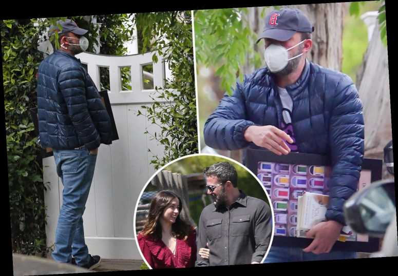 Ben Affleck wears mask to visit kids solo after Jen said new girlfriend Ana can't meet kids – The Sun