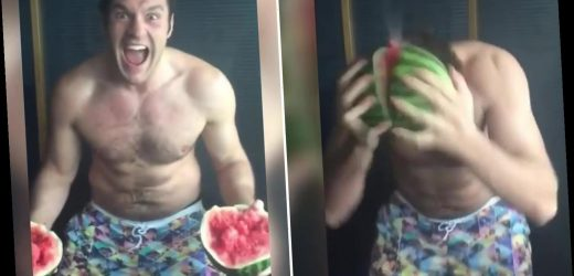 Watch Tyson Fury crack watermelon open with his HEAD and eat it in brilliant throwback video shared by Frank Warren – The Sun
