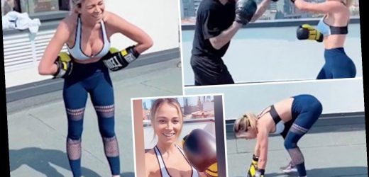 Stunning TV presenter Diletta Leotta sends fans wild with home workout in skimpy top and leggings – The Sun