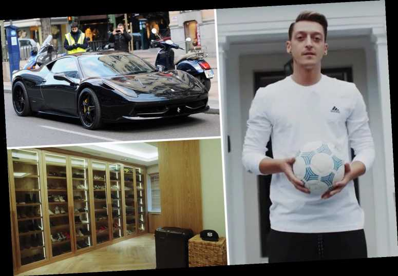 Inside Arsenal pay cut rebel Mesut Ozil's £10m London home with personalised doors and £800k supercar collection – The Sun