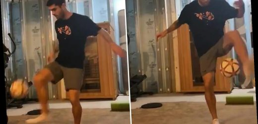 Chelsea star Pulisic does keepy-ups in perfect unison with Drake song as part of Toosie Slide challenge – The Sun