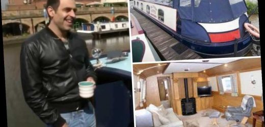 Inside Ronnie O'Sullivan's beloved canal boat home named Morfe Lady Three with luxury TV and dining room – The Sun