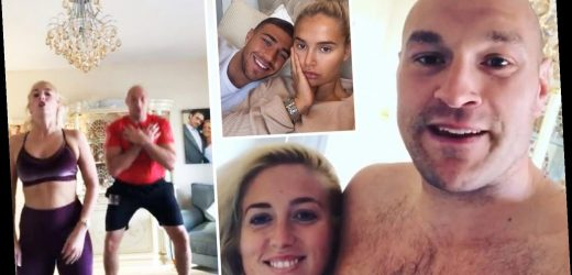 Tyson Fury challenges Anthony Joshua and his 'missus' to couples workout with Tommy and Molly-Mae set to take part – The Sun