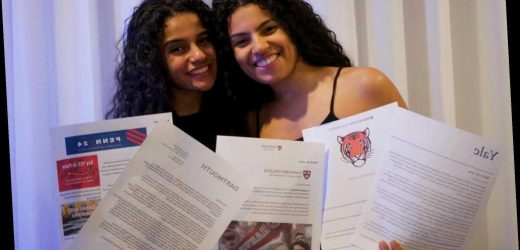 New Jersey twins get college acceptance letters from 5 Ivy League schools