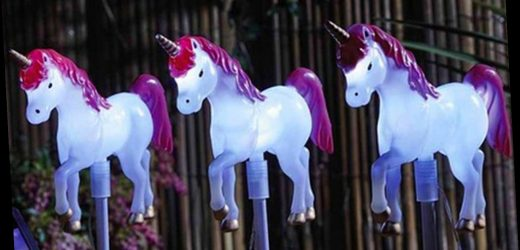 Studio is selling a set of unicorn solar lights for your garden – and they're a bargain – The Sun