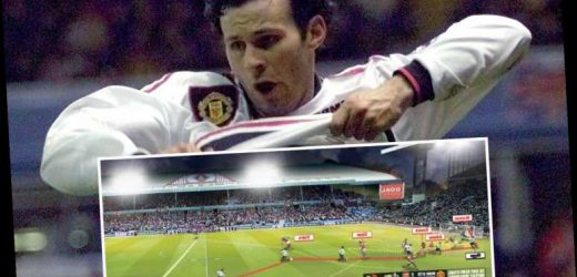 Man Utd legend Ryan Giggs admits kids are still 'haunted' by famous shirt-off cele after 1999 wonder goal – The Sun