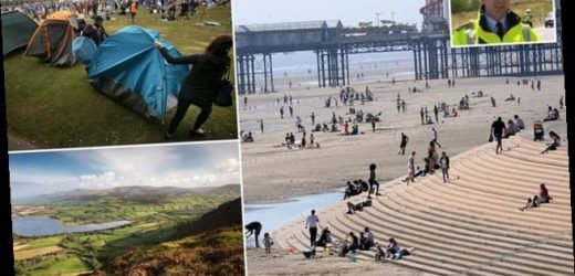 Welsh police fine English day trippers amid surge in campsite bookings