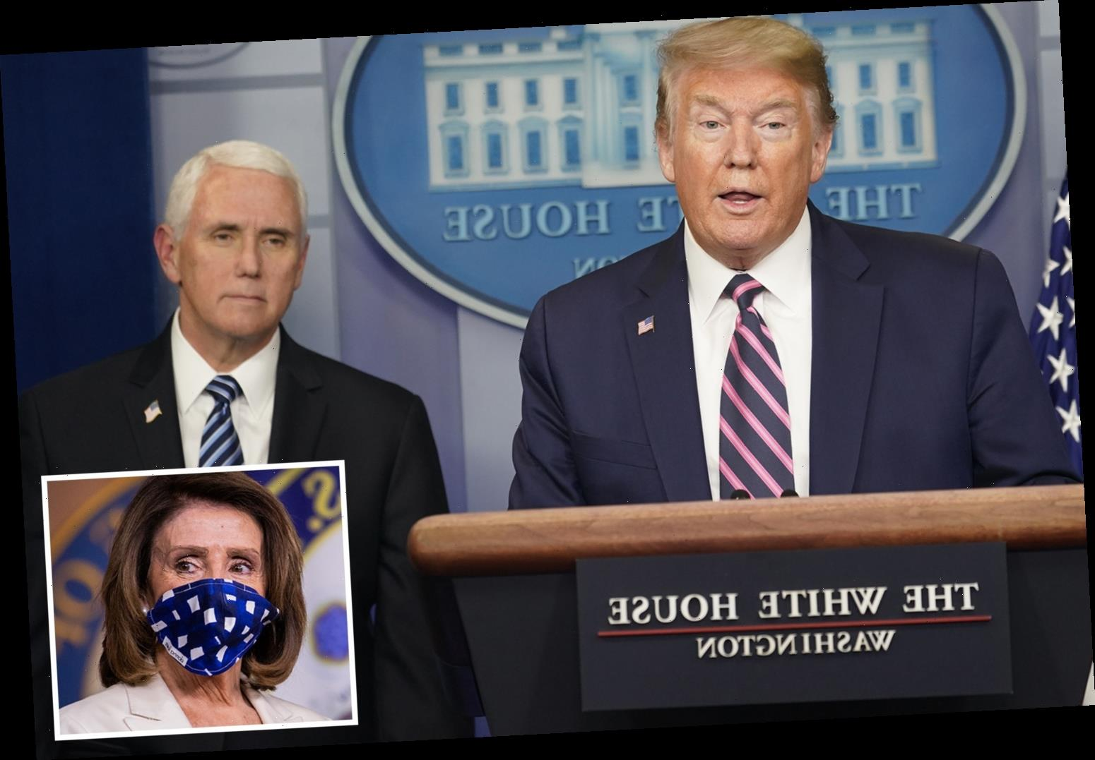 No coronavirus plan if Trump and Pence both struck down, White House admits – and Nancy Pelosi 'could become president' – The Sun