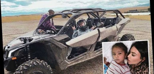 Kim Kardashian goes off-roading with husband Kanye West as they 'argue a lot' in lockdown – The Sun