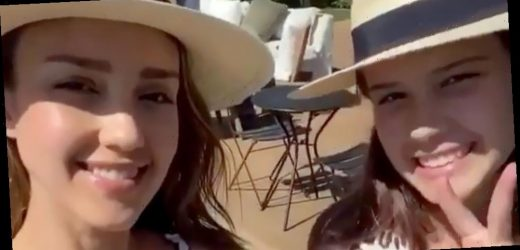Jessica Alba and 11-Year-Old Daughter Honor Twin in Matching Bikinis
