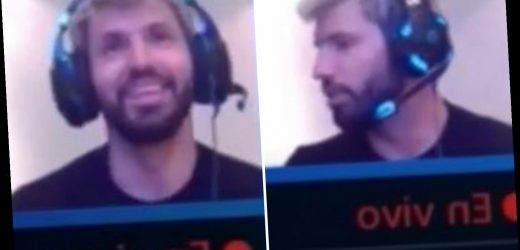 Aguero tricked into saying 'stroke my a***' in live video game stream as model girlfriend Sofia makes him aware of gaffe – The Sun
