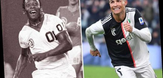 Cristiano Ronaldo will not retire until he has beaten Pele's 1281 goalscoring record with 556 to go, claims Neville – The Sun