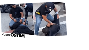 NYC cop brutally beats bystander and kneels on his neck over social distancing