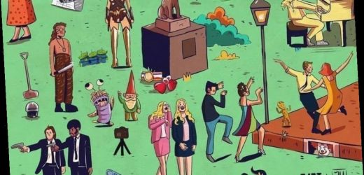 Movie buffs challenged to name all the film titles hiding in this picture – so how many can YOU spot?
