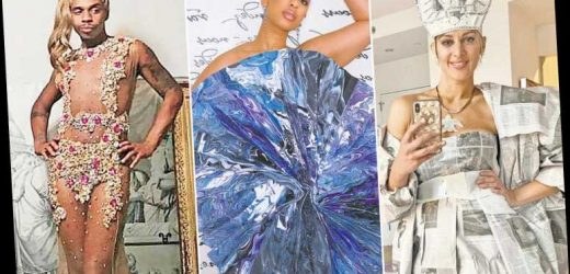 Red carpet toilet paper? These are the best at-home DIY Met Gala looks