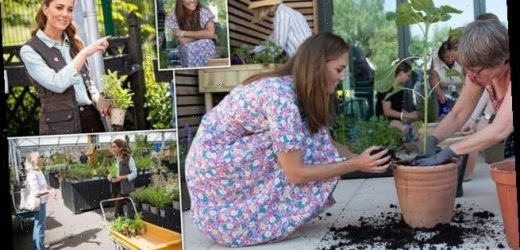 Kate Middleton gets her hands dirty in visit to children's hospice