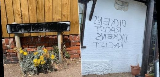 Charles Dickens museum defaced with graffiti branding author 'racist'