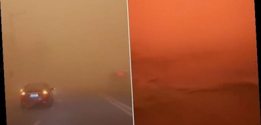 Residents film apocalyptic footage of a monster sandstorm in China