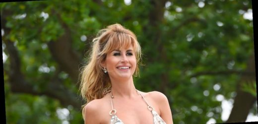 Real Housewives of Cheshire star Ester Dee demands attention in sparkly bikini whilst showing off sensational figure