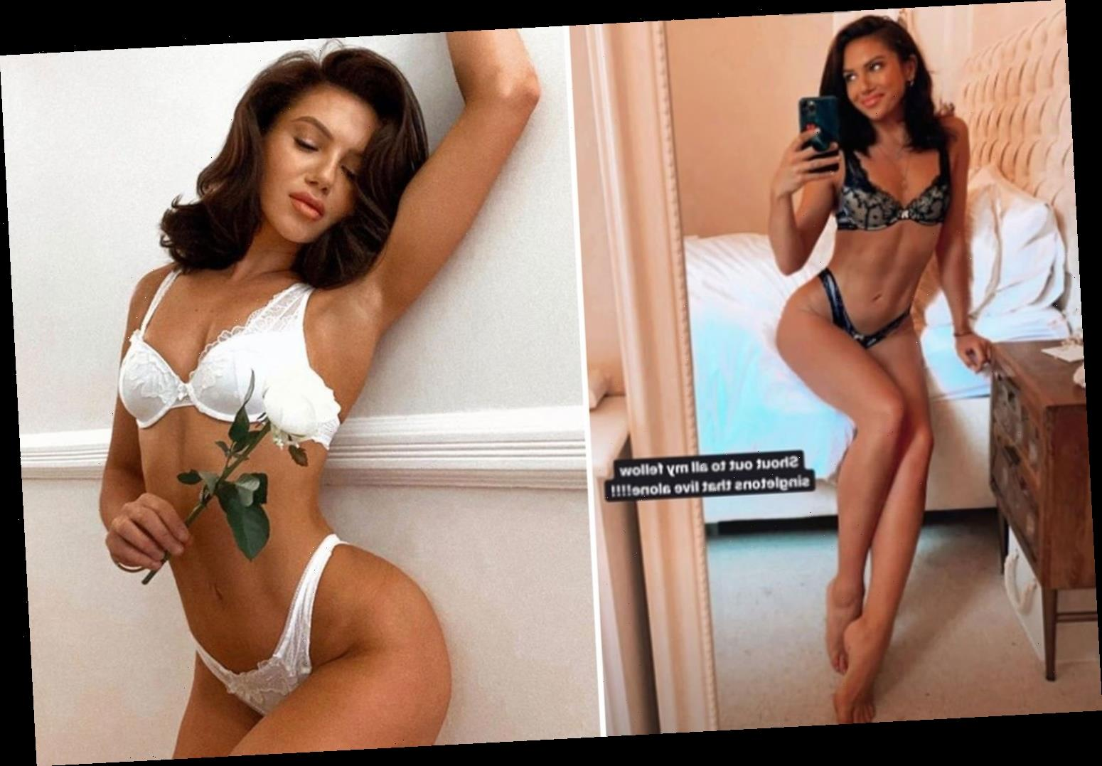 Love Island's Alexandra Cane models black lacy lingerie as she complains about government 'sex ban' – The Sun