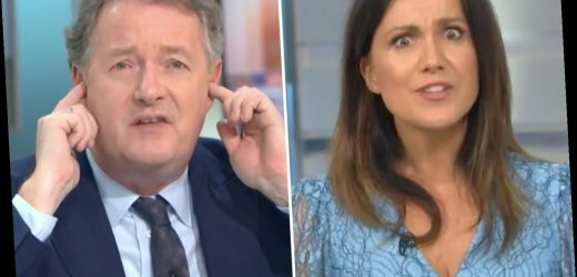 Piers Morgan stuck his fingers in his ears and refused to listen to Government-issued statements on-air