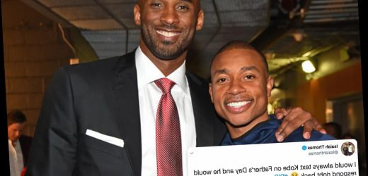 NBA star Isaiah Thomas reveals heartbreak of not sending 'father figure' Kobe Bryant a Father's Day message – The Sun
