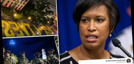 DC mayor kicks out 200 National Guardsmen from hotel before bragging about shining 'night light' for Trump at BLM mural – The Sun